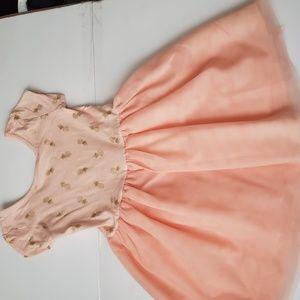 Girls Pink And Gold Pineapple Tutu Dress Size 5t